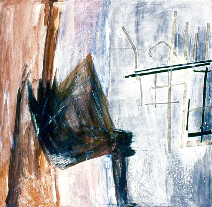 Aesthetics, 1998, acrylic paint, charcoal and tape, 92 x 92cm