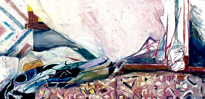 Half-Imaginary, 1996, acrylic paints, crayons, colour pencils and kite paper, 122 x 61cm
