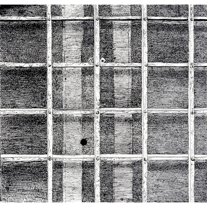 Squares, 1997, black ink and charcoal on paper, 60 x 60cm