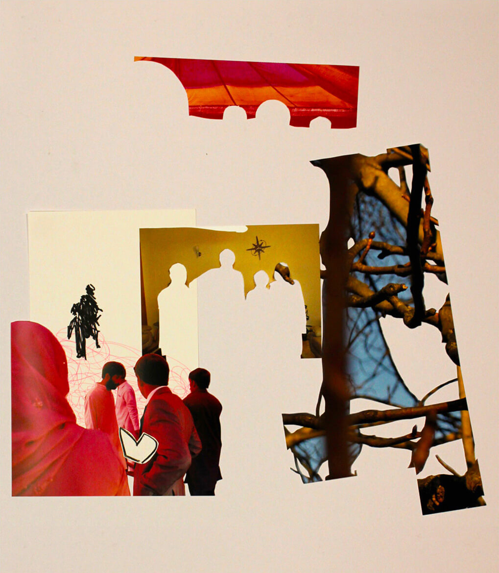 We are All in It, 2013, photo prints, markers and crayon on card sheet, 84 x 59cm