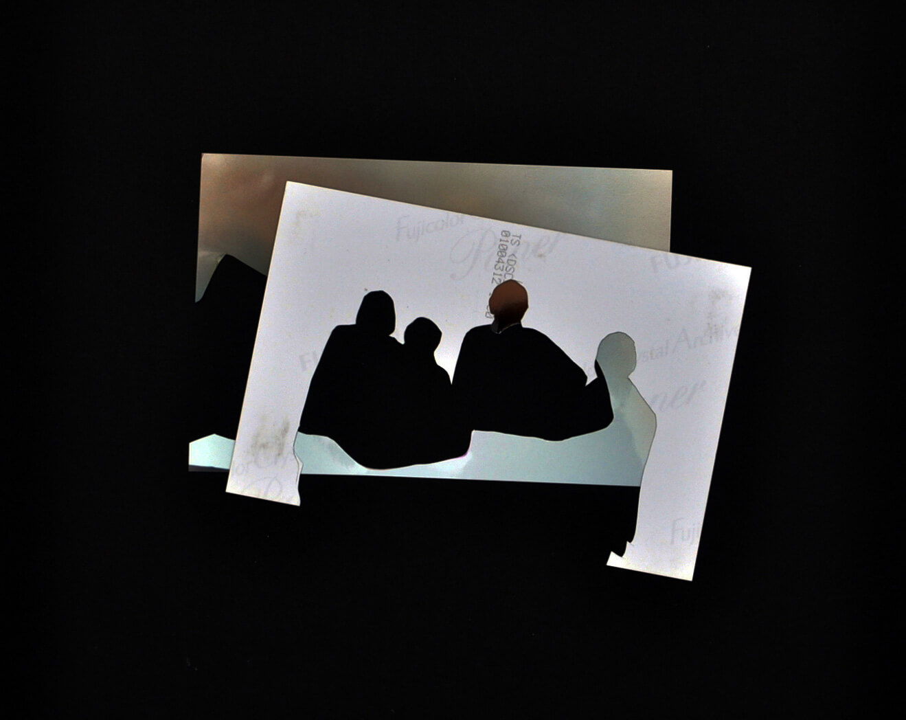My Parents and Us, 2010, photo collage on a card sheet, 29 x 29 cm