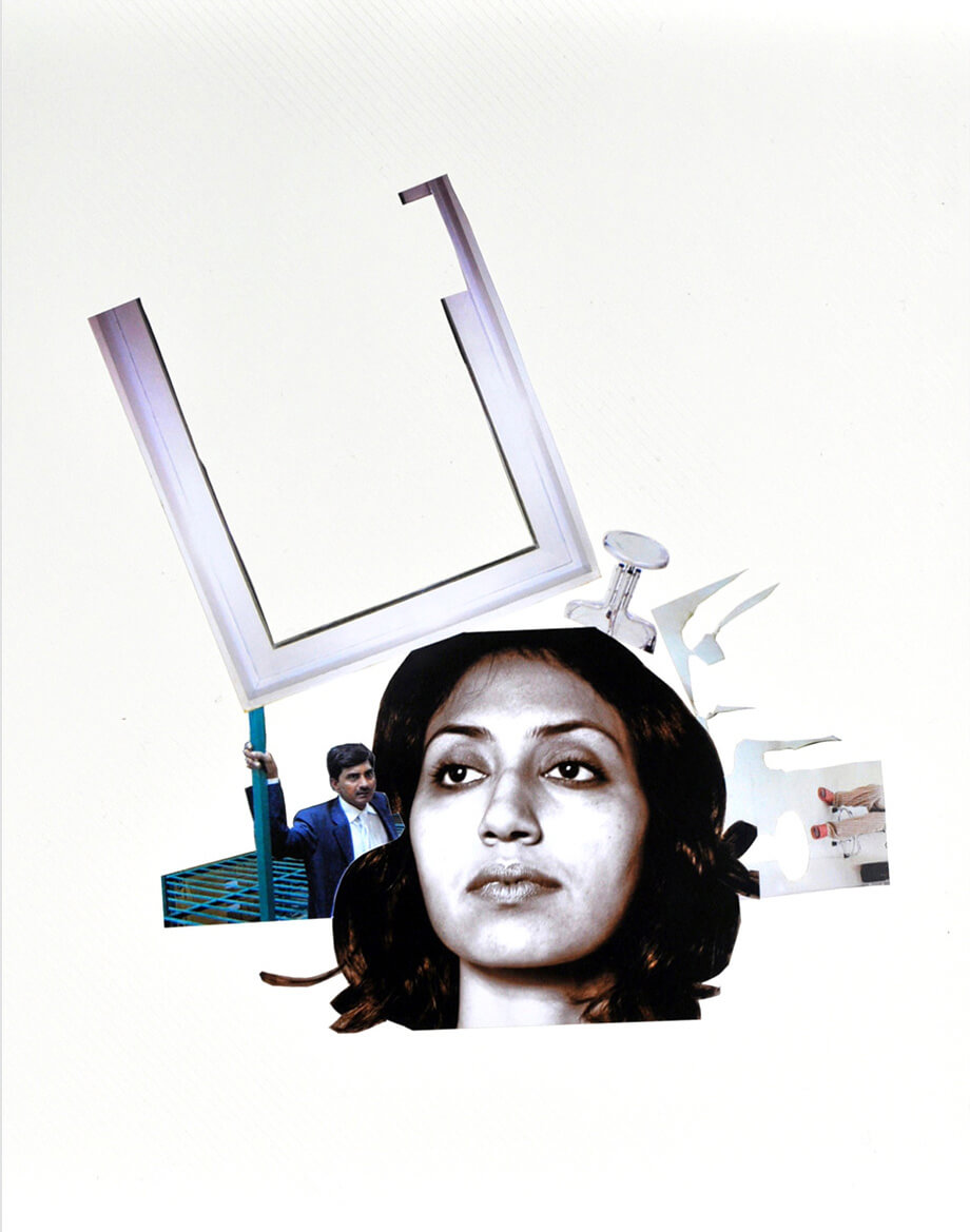 Element of Emotion, 2009, photo collage on a album page, 33 x 32 cm
