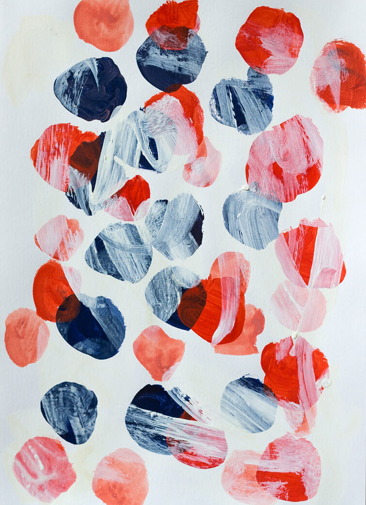 In Love 2, 2016, acrylic paint on Paper,  32 x 24cm